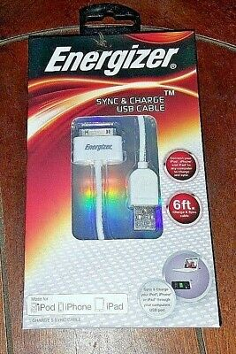 New Energizer Sync & Charge USB 6ft Cable - Item# ENG-SYNCW