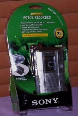 Sony TCM-210DV Handheld Cassette Voice Recorder Bundle - New Other
