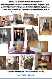2 Fully furnished double rooms in shared house in PHD
