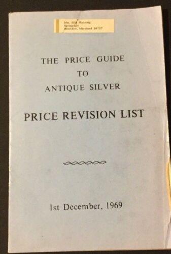 Vtg Pamphlet Catalog The Price Guide to Antique Silver December 1, 1969