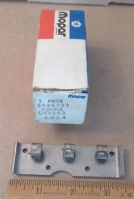 NOS Mopar 3438721 alternator rectifier negative heat sink 1972 1986 all models