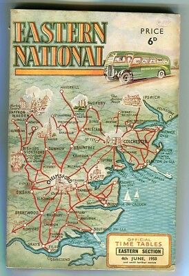 Eastern National Omnibus Co Ltd: Eastern Section : Bus timetable : June, 1950