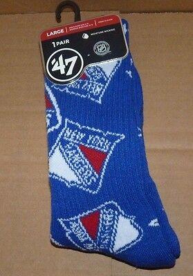 New York Rangers Womens Socks - NEW NHL NY New York Rangers 1 Pair Gameday Socks Men Women 47 Brand L Large NWT