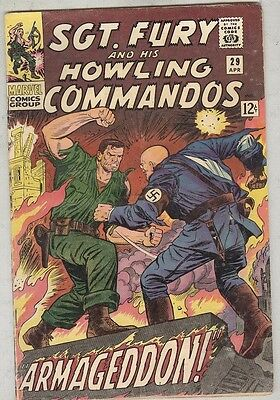 Sgt. Fury and his Howling Commandos #29 April 1966 VG Strucker