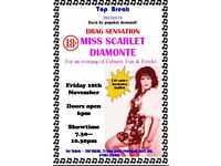 Drag Sensation Miss SCARLET DIAMONTE Live at Top Break Peterhead