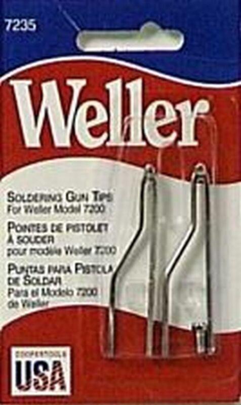 Weller 7235W Standard Soldering Gun Replacement Tips 2/Per Pack for model 7200