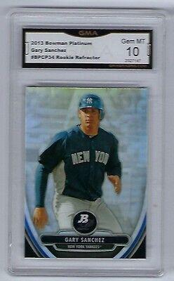 2013 Bowman Platinum Gary Sanchez Rookie Refractor Gem Mint 10 New York Yankees