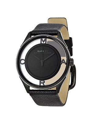 NEW MARC BY MARC JACOBS TERHER SKELETON BLACK LEATHER STRAP MBM1379 36mm