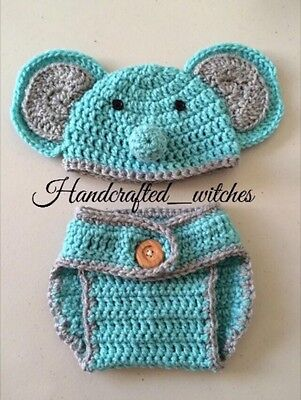 Elephant Costumes For Babies (Hand Crochet Elephant Outfit For Newborn, handmade baby outfit , newborn)