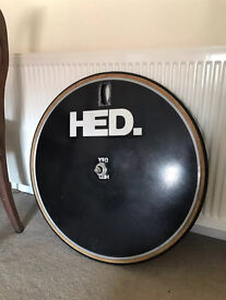 Hed disc wheel with rarer track hub