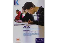 ACCA F7 Kaplan Study Text, Exam Q&A, Pocket Notes