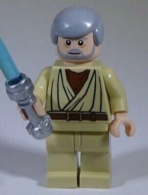 Lego Star Wars Obi-Wan Kenobi (White Glints) Minifigure Minifig 8092