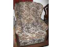 Pair of Very Comfortable Vintage Floral Pattern Armchairs