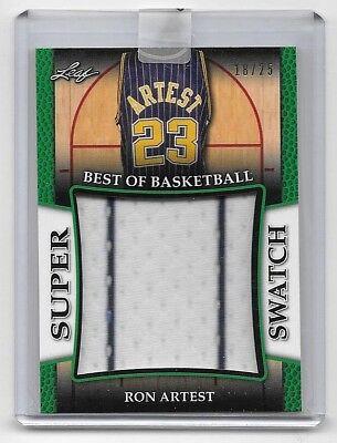 2017 Leaf Best Of Basketball Green #25 Ron Artest Super Swatch Jersey