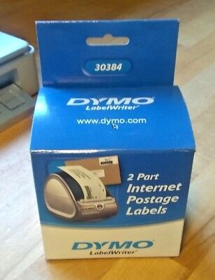 Dymo 30384 Oem Two-part Internet Postage Label - 1 Box Of 100 Labels