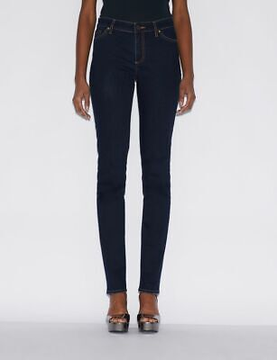 New Armani Exchange Womens COTTON MADE IN AFRICA J45 FIVE-POCKET CIGARETTE JEANS Armani Five Pocket Jeans