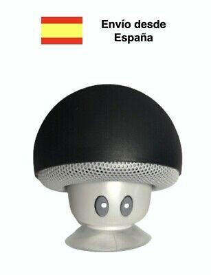 Altavoz bluetooth seta negro ventosa mini portatil champiñón movil smartphone