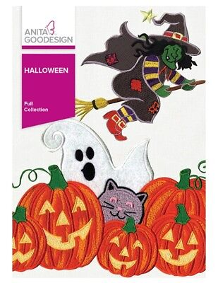 Anita Goodesign Machine Embroidery Pattern - Halloween Full Collection