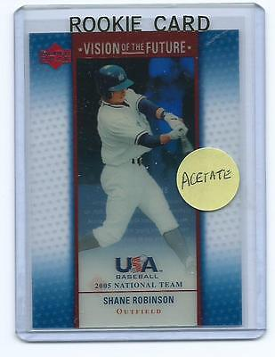 Shane Robinson 2005 05 Upper Deck Usa National Team Vision Of The Future Rookie