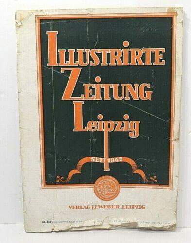 Illustrirte Zeitung Leipzig Nummer 4881, 29 September 1938 German Newspaper