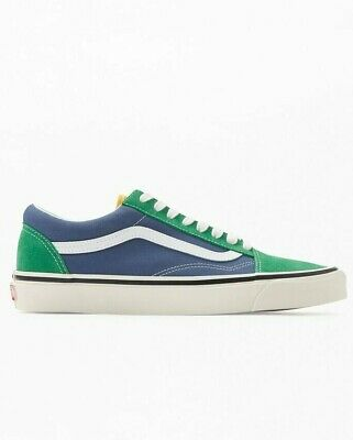Men Vans Old Skool 36 Dx Anaheim Factory Skate Shoes Blue Green Yellow White