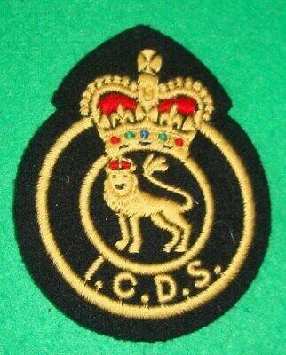 I.C.D.S Industrial Civil Defence Service Battledress badge