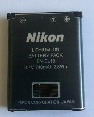 En El10 Rechargeable Battery (OEM Genuine Nikon EN-EL10 Rechargeable Lithium-Ion Battery  )