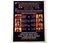 WWF WWE NXT SUMMERSLAM 1993 LUGER YOKOZUNA 230GSM WALL ART DEALS AVAILABLE