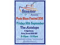 Poole Blues Festival - Steamer at The Antelope - Friday 16th September 2016 9pm-11pm