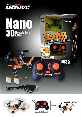 UDI U839 Nano 6 Axis 3D 2.4G 4CH Micro RC Quadcopter RTF