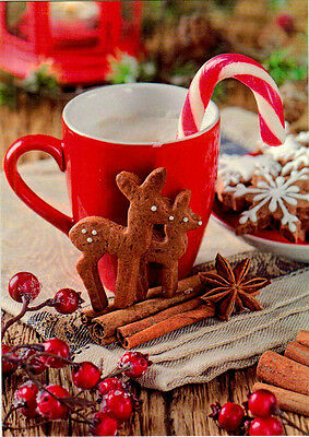 CHRISTMAS TIME: GINGER COOKIE LICORICE HOT CHOCOLATE Modern Russian postcard   ()