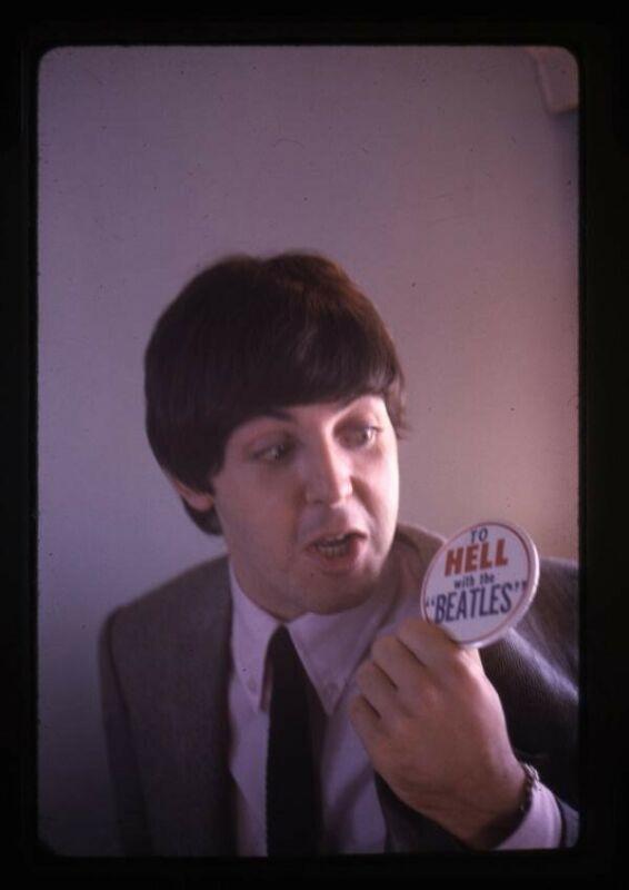 The Beatles Paul McCartney Candid photo badge 1960