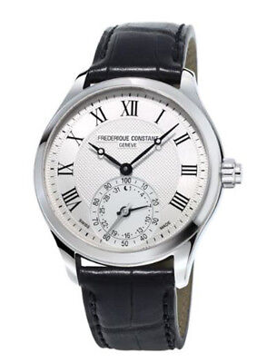 Frederique Constant Men's FC-285MC5B6 Quartz Horological Leather 42mm Smartwatch
