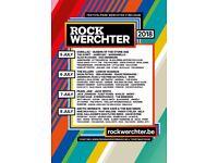 Rock Werchter tickets + luxury camping X 4