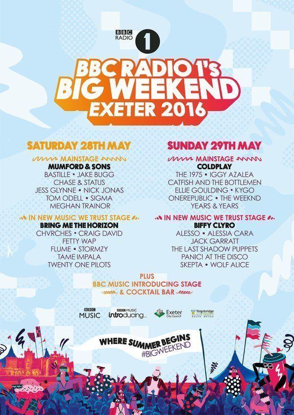 Saturday Tickets X 2 Radio One Big Weekend 2016 In Exeter Devon Rhgumtree: Radio 1 Big Weekend 2016 Tickets At Gmaili.net