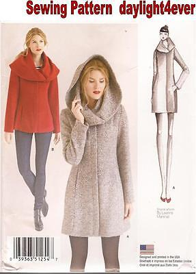 Women Easy Lined Coat or Jacket Sewing Pattern 1254 Simplicity New Size 14-22 #r