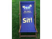 Real Radio deck chair