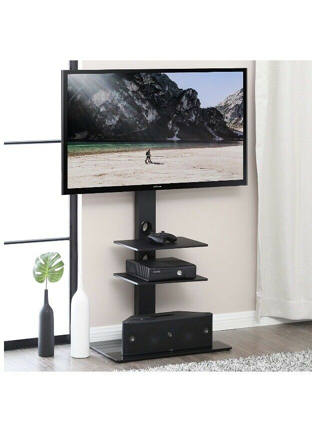 Fitueyes Cantilever Tv Stand With Swivel Bracket For 32 65 Inch