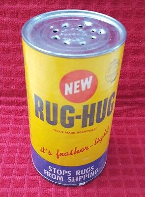 RUG-HUG Stops Rugs From Slipping empty can movie prop vintage rare htf