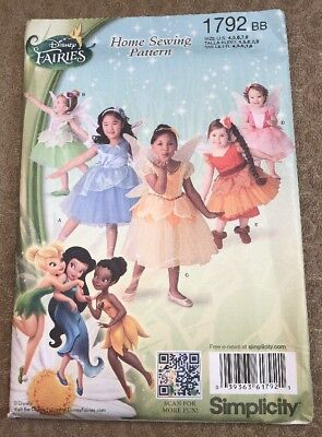 Disney Fawn Costume (Disney Fairy Costume Simplicity Sewing Pattern Tinkerbell Fawn UNCUT 1792 BB)