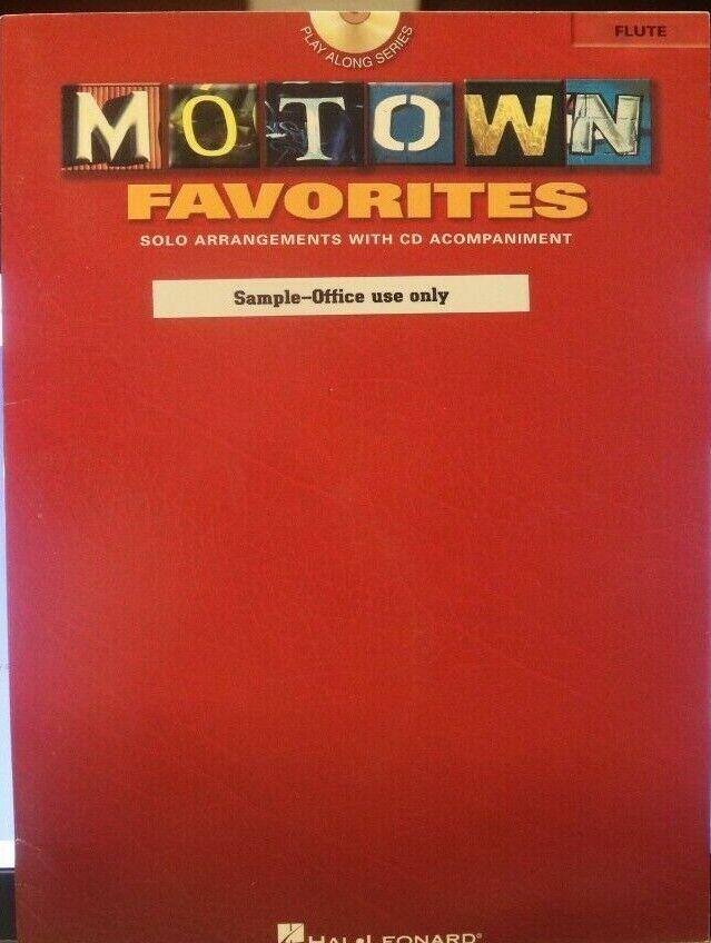 Flute CD Motown Favorites - 11 Solo Arrangements With CD Accomp. Out Of Print - $2.35