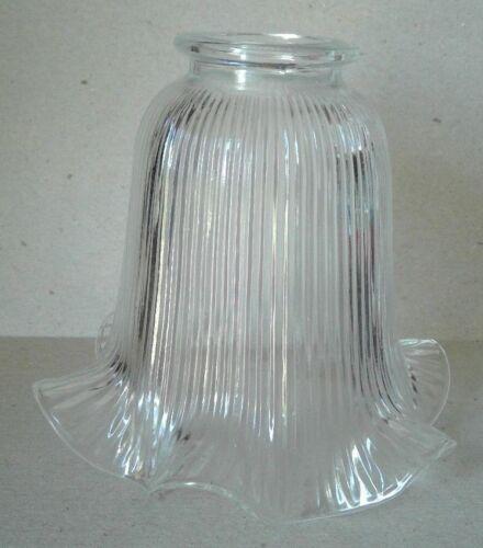 HOLOPHANE STYLE GLASS SHADE LIGHTING FAN FIXTURE PRISMATIC GLOBE  1930