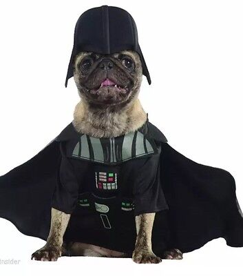 NWT Disney Darth Vader Star Wars Halloween Pet Dog Costume Small Cape Headpiece](Dog Darth Vader Costume)