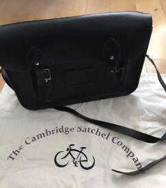 """Cambridge Satchel Company 13"""" original black bag"""