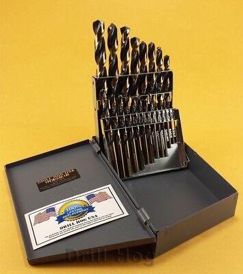 Drill Hog USA 21 Pc Drill Bit Set Index Hi-Molybdenum M7 MOLY Lifetime Warranty