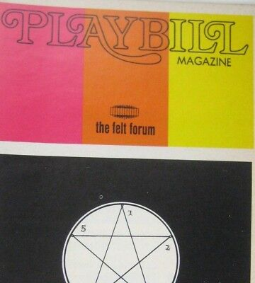 World Festival Magic Occult Playbill 1973 Felt Forum Crozier Al Carthy Willtohn