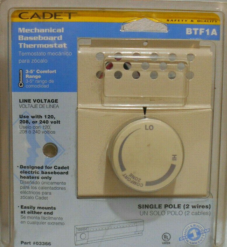 Cadet #03366 120/240V Almond Thermostat