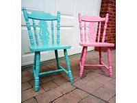 Kitchen chairs. Fiddle back. Upcycled shabby chic