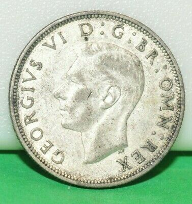 UK British 1942 Half Crown 1/2 .500 Silver King George VI