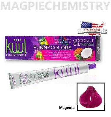 [Kuul] Funny Colors MAGENTA Hair Dye with Coconut Oil 3.04 oz | FREE SHIPPING Pink Hair Dye